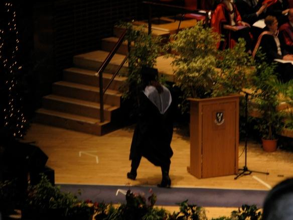 Me graduating....