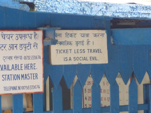 Love this sign! Ticketless travel IS a social evil.