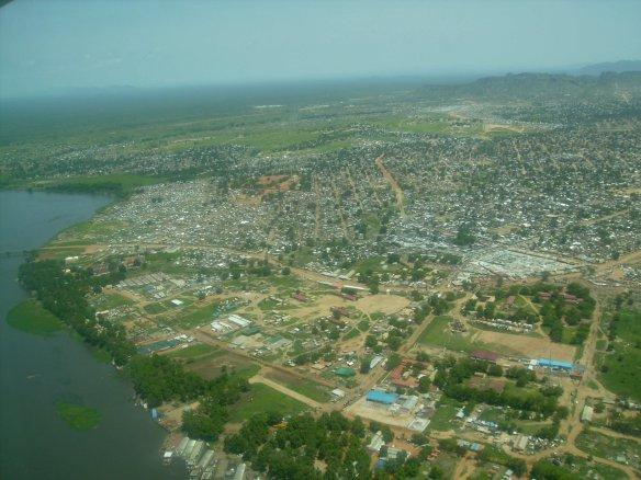Aerial view of Juba as we took off