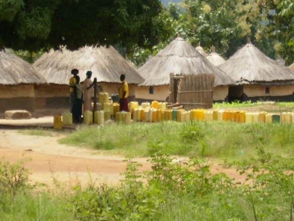 Queueing for water in the village