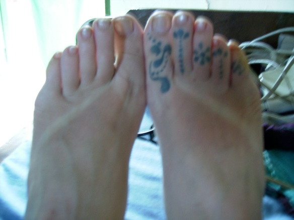 Flip-flop sunburn!