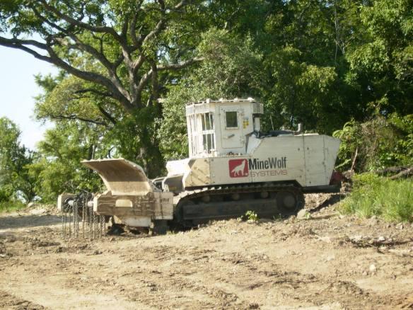 Mine clearance machines