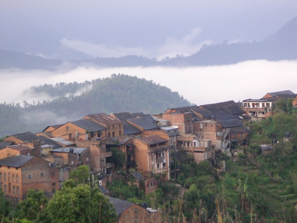 Bandipur, perched on a ridge