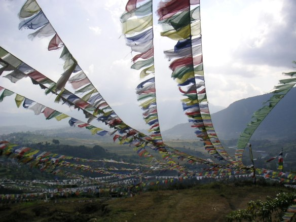 Loads of prayer flags!