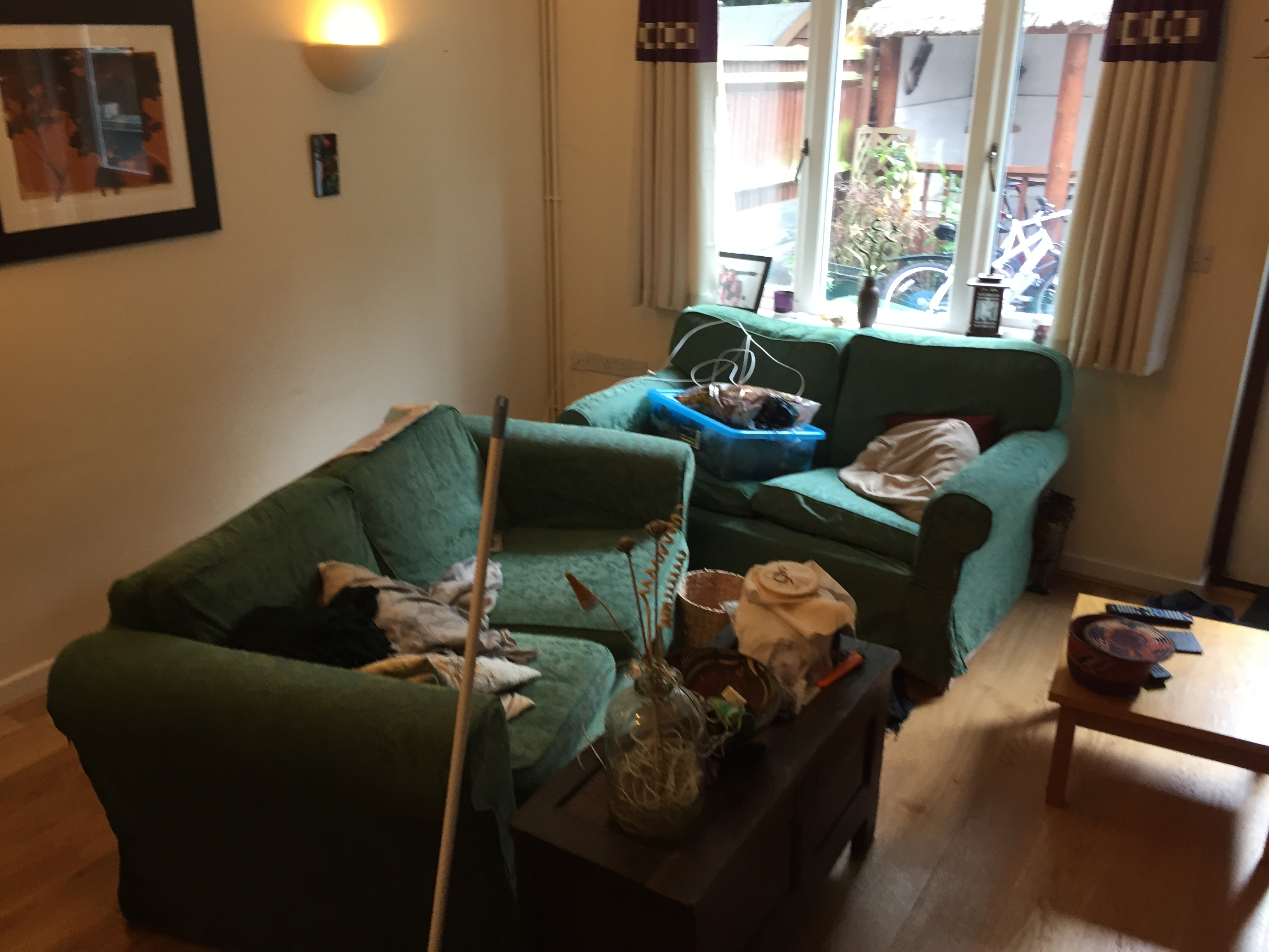 Living room makeover…   Had we but world enough and time...